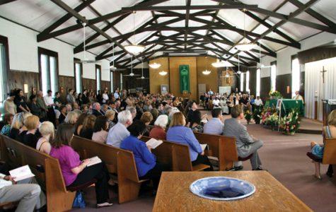 Memorial held on campus for professor
