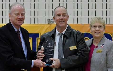 Recently retired head coach inducted into the St. Edward's Hall of Fame